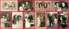 GERMAN EMPIRE & PRUSSIA ROYALTY COUPLES - 10 ORIGINAL ca 1900's PHOTO POSTCARDS