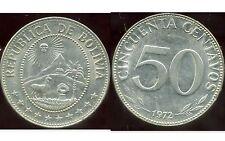 BOLIVIE   50 centavos 1972