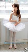 New Kids Girls Birthday Party Ballet Costume Tutu Dance Leotard Skirt Dress 3-8Y