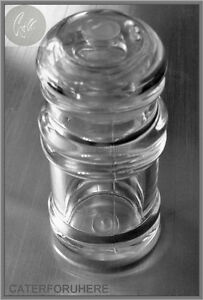 2 ACRYLIC PLASTIC COCKTAIL STICK TOOTH PICK HOLDER DISPENSER CLEAR ROUND DESIGN