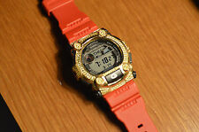 Red and Gold Studded G-Shock Watch