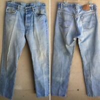 Vintage Levi's 501 0113 Jeans Button Fly Made In USA 36 34 Measure 34 34