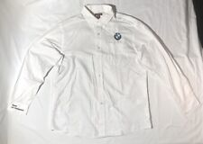 Red House White Classic BMW Logo Button Up Long Sleeve Shirt Mens XL Pre-Owned