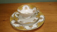 Rosenthal Selb Germany Cup Saucer, Bread & Butter Plate, 1930s gold leaf floral