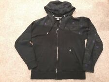 *EUC* Volcom Contrast Skate Hoodie Zip Up Black mens medium sweatshirt