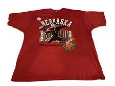 Vintage 1995 Orange Bowl Nebraska Cornhuskers T Shirt Ultimate Sports Wear 3XL