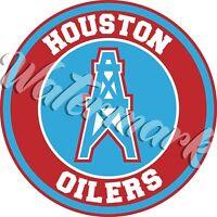 Houston Oilers Circle Logo Sticker / Vinyl Decal 10 sizes!!