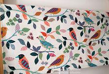Valance Kitchen Cottage Curtain Valance Window Treaments Vintage Bird Leaf Print