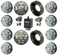 LAND ROVER DEFENDER COMPLETE CLEAR 10 LED LAMP/LIGHT UPGRADE KIT RDX WIPAC LUX