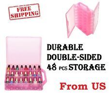Nail Polish Holder Case Box Bottle Rack Organizer Carry Bag Storage Tray Pink