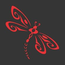 Red Dragonfly - Die Cut Vinyl Window Decal/Sticker for Car/Truck