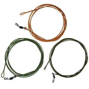 2/5Packs Fly Line Tippet Leaders 3.3FT 80LBS for Catfish Carp Made with Kevla