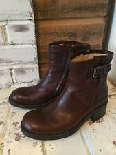Free Lance Moto Boots Brown Leather Size 37, US 7