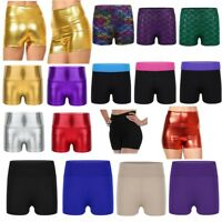 Kids Girls Gymnastics Ballet Dance Shorts Gym Leotard Boyshorts Pants Dancewear