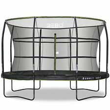 Rebo Summit Oval Trampoline and Safety Enclosure