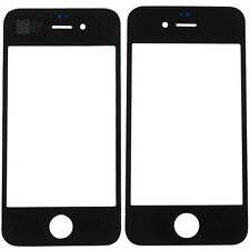 Black Front Upper Screen Glass Lens Replacement For Apple iPhone 4 4G 4S