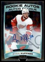 2019-20 OPC Platinum Rookie Auto #R-RK Ryan Kuffner RC - Detroit Red Wings