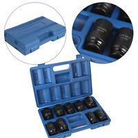 "9pc Drive Metric 29-38mm Deep Impact Axle Hub Nut Socket Set 1/2"" UK"