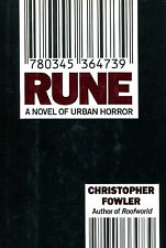 Rune by Christopher Fowler-First Edition/DJ-1991