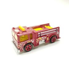 Hot Wheels 1976 Fire-Eater Flying Colors Fire Truck Yellow Vintage Red Wheels
