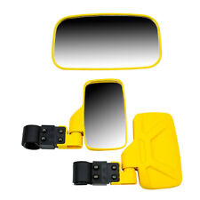 Yellow Break Away Side & Rear View Mirror UTV Offroad Wide View 1.75 Inch Cage