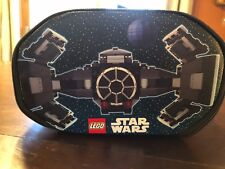 2 LEGO Star Wars Darth Vader Minifigure TIE Fighter Zip Bin Playset Storage Case