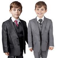 Boys Suits 5 Piece Suit Waistcoat Suit Wedding Party Formal Baby Page Boy Suit