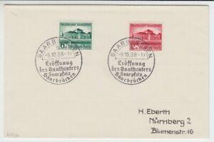 Deutsches Reich  673/74  Gautheater Saarpfalz  FDC