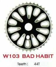 """W103 BMX """"BAD HABIT""""  44 TOOTH BMX FRONT CHAINWHEEL / CHAINRING, for 1/2"""" chain"""