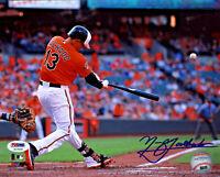 Manny Machado Signed 8x10 Baltimore Orioles Rare Full Name Photo - MLB PSA/DNA
