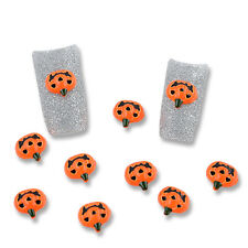10Pcs 3D Halloween pumpkin New Design Nail Art Decoration Crystal Rhinestone
