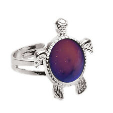Charming  1X Mood  Ring Changing Color Turtle Adjustable Temperature Ring HF2