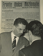 Italia, Fronte Unico Nazionale, dott. Moroni Fiori Vintage silver print Tirage