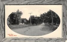 Waseca Mn Early Paved Auto St~Church on Lake Ave~Home w/Corner Porch c1910 Oval