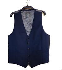 John Lewis Blue Waistcoat Wool Mohair 42R 107cm