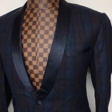 Carlos Campos Blue One Button Wool Blazer $819 Size 40R Regular