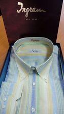 Camicia Uomo Ingram a qudri in Misto Lino 20 1\2-50