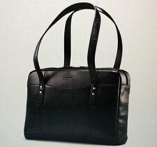 """Samsonite Leather Slim Brief - Black Laptop Case 16.5"""" X 12"""" X 3.25"""" -57476-1041"""