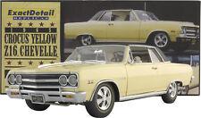 EXACT DETAIL - 1965 CHEVY CHEVELLE Z16 MALIBU 396 TURBO JET yellow/wht int 1:18