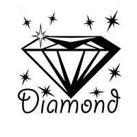Diamond Symbol Camping Mountain Graphic for Truck Car Automotive Decal Sticker