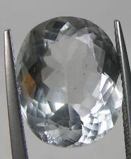 8.00ct Pakistan 100% Natural VS Clean Goshenite Beryl Oval Cut Gemstone 14.50mm