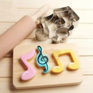 Music Themed Metal Cookie Cutters - Set of 3, Beamed Quaver, G Clef and Quaver