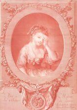 Jean Baptiste Greuze Duchesse de Luynes Ingouf le Jeune Gravure Sanguine XIXème