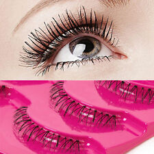 5Pairs Natural Soft Lower Eye Lashes Under Bottom Handmade Cross False Eyelashes