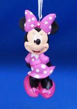 Minnie Mouse Pink Polka Dot Dress Christmas Ornament Resin Disney 2012 Figurine