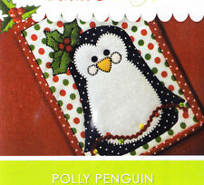 PATTERN - Polly Penguin Mug Rug - cute owl applique PATTERN - Stitches of Love