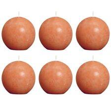 Bolsius Ball Rustic Candle Orange 80mm 6 Pcs Set