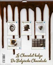 "Belgium ""BELGIAN CHOCOLATE"" Scented + Chocolate Taste ~ Lickable Stamps MS 2013"