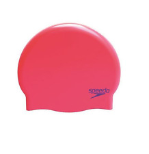 Speedo Junior Moulded Silicone Swimming Cap Hat - Red / Purple