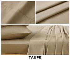 All Size 4 Piece 1000TC Egyptian Cotton Flat Fitted Sheet Set Pillowcase